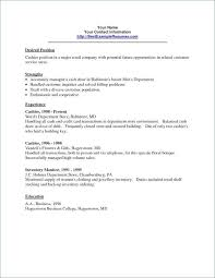 Cashier Resume Examples Format 2018