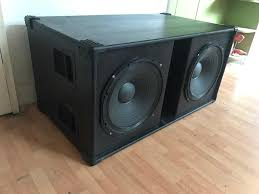 100 Speaker Boxes For Trucks Double 15 Professional PA Bass Speaker Box In East Dulwich
