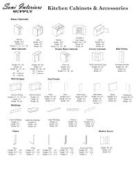 Mid Continent Cabinets Specifications by Standard Kitchen Cabinet Sizes Chart U2014 Readingworks Furniture