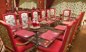 Red Themed Dining Table Set