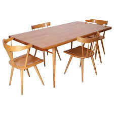 Trendy Paul Mccobb Dining Set Four Chairs And Table Maple 1950s Winchendon For Sale At 1stdibs