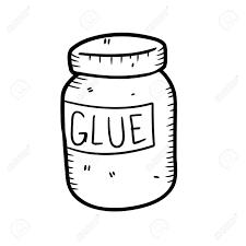 glue bottle black and white clipart 11