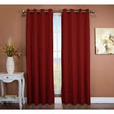 Blackout Curtain Liner Fabric by Red Blackout Grommet Curtains U0026 Drapes Window Treatments