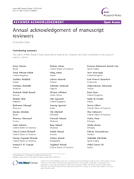 100 Eileen Alexanderson Annual Acknowledgement Of Manuscript Reviewers Topic Of