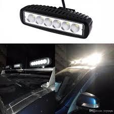 100 Work Lights For Trucks 6 Slim 18w 6X3W LED Light Spot Beam ATV 4X4 Off Road Light Lamp