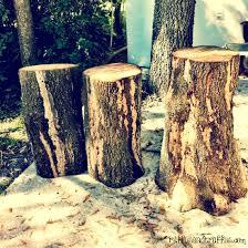 tree stump table diy