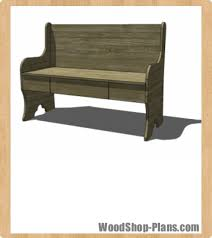 Bench With Storage Woodworking Plans Woodshop