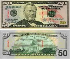 Fifty Dollar Bill Ulysses S Grant