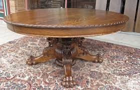 HASTINGS QUARTERSAWN OAK LIONS DINING TABLE