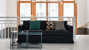 Karlstad Sofa New Legs by Bemz Regular Fit With Long Skirt Bemz