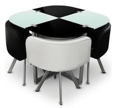 table et 4 chaises table à manger bicolor 4 chaises encastrables krys