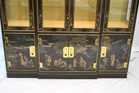 Drexel Heritage Dresser Hardware drexel heritage lighted asian style black decorated breakfront