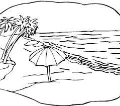 Beach Coloring Page Scene Free Printable Pages For Kids