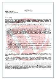 Hr Cover Letter Examples Sample Cover Letter For Resume ...
