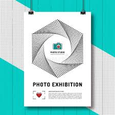 Download Photo Exhibition Design Template Poster Or Flyer Stock Vector