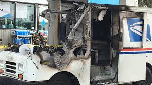 100 Postal Truck Fire Mail Catches At North Haven Gas Station NBC Connecticut