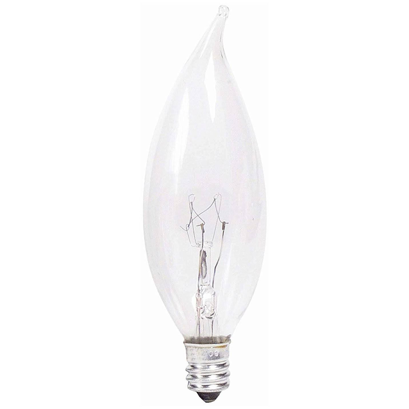 Philips Decorative Candelabra Base Candle Light Bulb - Clear, BA9, 40w, x4