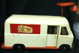 Vintage Wonder Bread Delivery Truck Riding Toy. By