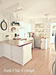 Rustic Chic White Kitchen With Open Shelving