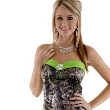 strapless printing realtree camouflage camo ball gown prom dresses