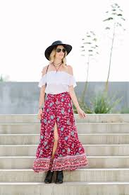 Dash Of Darling Wears A Spell Designs Bohemian Maxi Skirt With Show Me Your Mumu