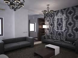bilder 3d interieur wohnzimmer schwarz weiß valea lupului 1