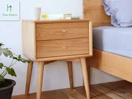 japanische weiße eiche nachttisch einfache moderne schlafzimmer möbel schublade eimer schrank nordic schrank