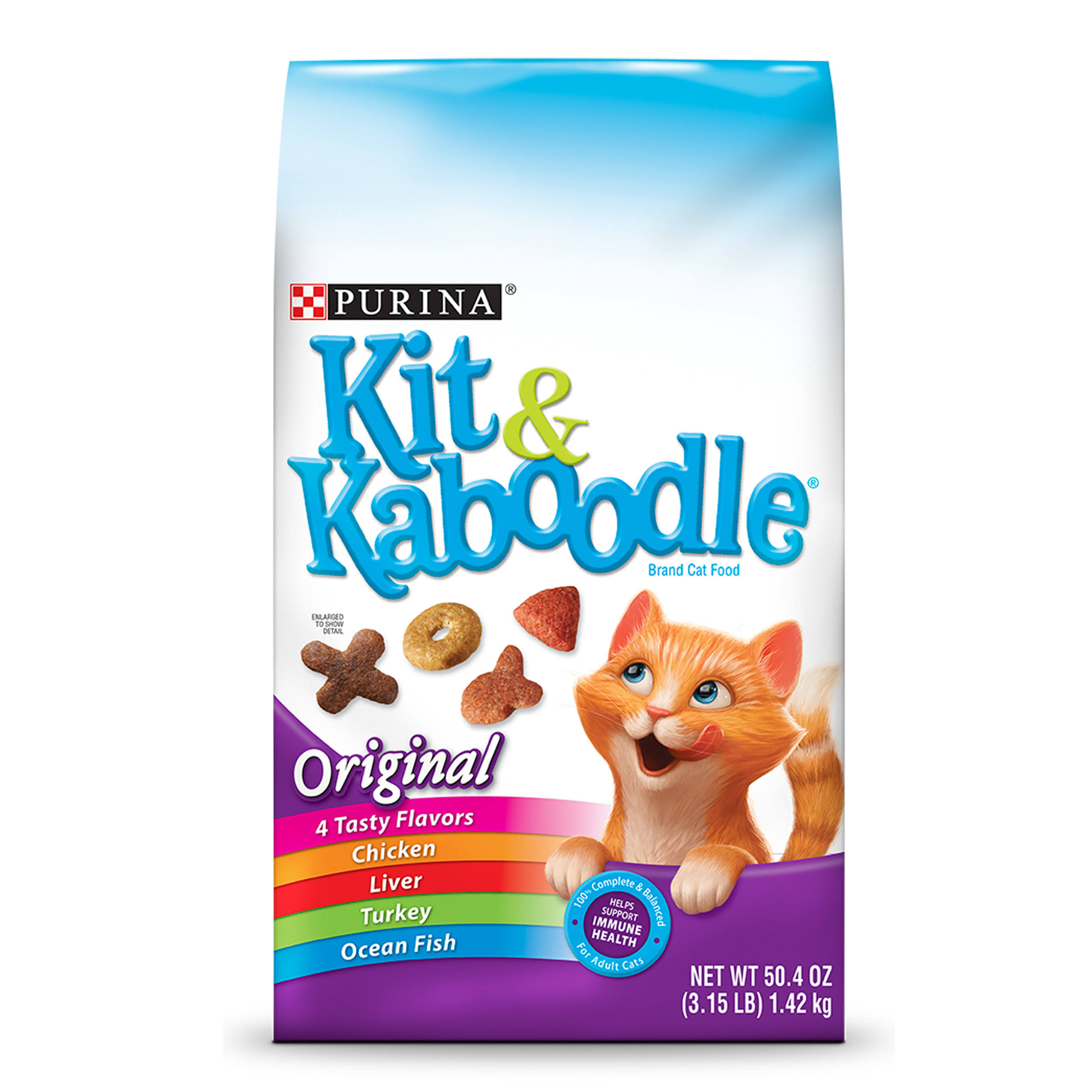 Dry Kaboodle Original Dry Cat Food - 3.15lbs