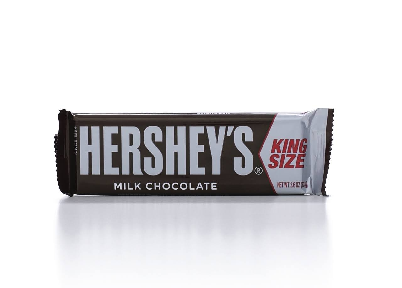 Hershey's Milk Chocolate Bar - King Size, 2.6oz