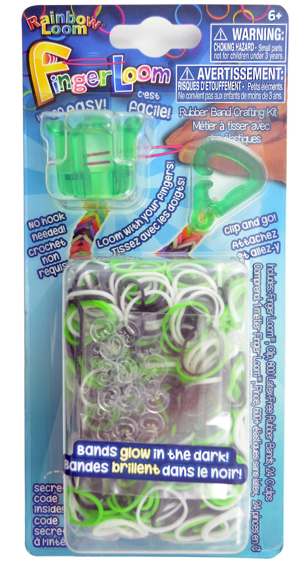 Rainbow Loom Finger Loom Rubber Band Crafting Kit - Green