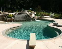 Excellent Swimming Pool With Diving Boards Contemporary Slide Board Beach Entry And