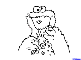 how to draw cookie monster step 6