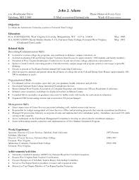 Resume Skills For Student Good Examples Of And Abilities Example On Images College 8