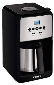KRUPS ET351 SAVOY Programmable Thermal Stainless Steel Filter Coffee Maker Machine With Bold And 1