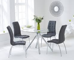 Buy The Elva 100cm Glass Dining Table With Calgary Chairs At Oak And Inspirations 18