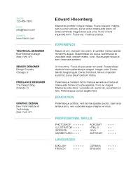 Modern Resume Examples 2015 Layouts Format Of A Simple Template 4 Page Pack