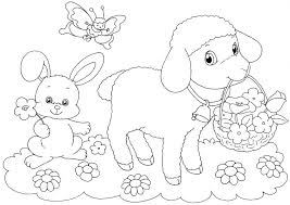 Lion And Lamb Coloring Pages Page