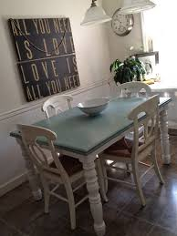 Ideas For Refinishing Kitchen Table painting kitchen table and