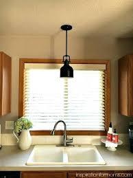lighting kitchen sink pendant light distance wall window lights