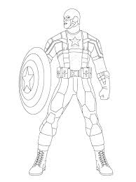America Coloring Pages Captain Printable American Girl
