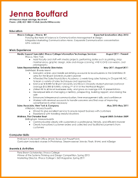 Resume Examples For College Graduates S Recent Graduate