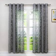 heichkell voile gardinenschal mit ösen transparent vorhang mit ausbrenner design wohnzimmer gardine 1pc store bxh 140x245cm grau