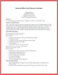 Resume Example For General Clerk Together With Office Assistant