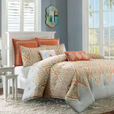 orange comforters bedding bed bath kohl s