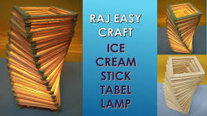How To Make Ice Cream Stick Lamp