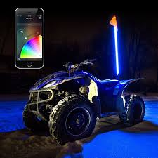 XK Glow LED Whip Light Kit For RZR App Controlled (1 Whip ...