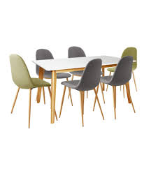 Cheap Kitchen Table Sets Uk by Buy Hygena Beni Dining Table With 2 Green U0026 4 Grey Chairs At Argos