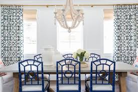 concrete top dining table with blue bungalow 5 chloe chairs