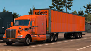 100 Schneider National Trucking American Truck Simulator From Eureka To Fresno New Truck