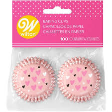 Wilton 100ct Mini Valentines Day Baking Cups Target